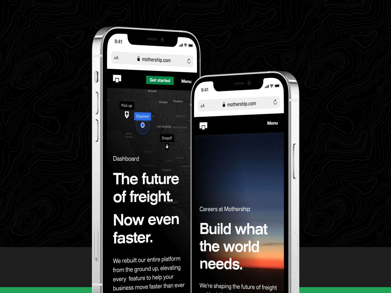Phone Mockups with Mothership Content